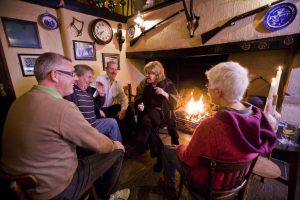 Liz Weir telling at the Crosskeys Inn