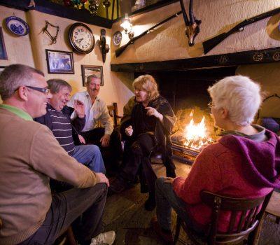 Liz Weir telling at the Crosskeys Inn