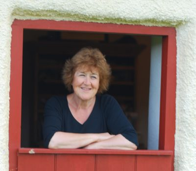 Liz at half door